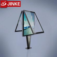 Two Sides Scrolling LED Lighting Box Advertising Billboard, Street Furniture