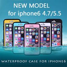 Hot saling waterproof case for iphone 6 6plus, shockproof waterproof case for iphone 6 6plus