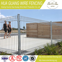( 20 years factory ) hot dipped galvanized BRC fence / roll top fence