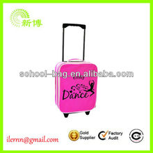 User-friendly dance travel bag with wheels