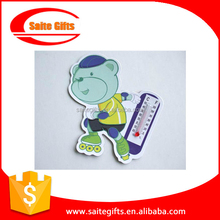 Advertising fridge magnet with thermometer