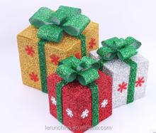 China Snow pattern Christmas scene adornment folding box gift box