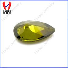 pear cut peridot green synthetic gems