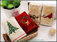 Cotton christmas decoration wash cloth ,28X46CM,Cotton gift small towel,GVBT655323