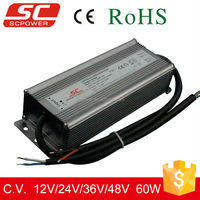 12V 24V 36V 48V constant voltage 60W DALI dimmable led driver