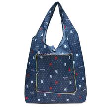 Blue printing pattern cheap shopping bags