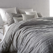 Loft Stripe Duvet Cover in Grey quilts