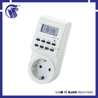 Favorable price white 220-240V AC high quality electric socket timer