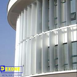 Aluminum exterior louvers aluminum wall cladding materials