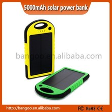 OEM best products of 2015 Solar Mobile Charger Power Bank 5000 mah for mobile phone charging