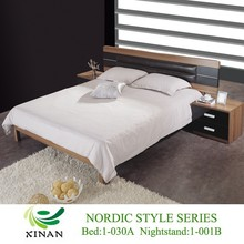 Melamine PB African Bedroom Furniture,Black Leather Headboard