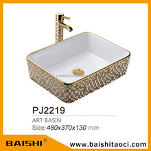 BAISHI Bathroom and Kitchen Fashionable Washing Basin Stone Sink Stone Basin