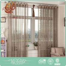 Curtain supplier Fashion Lightweight flocked window curtain