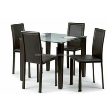 glass MDF low price dining table