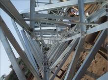3 legged HDG angle steel lattice telecom tower