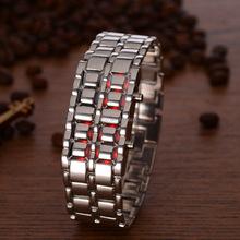 R1048 Hot sale fashion bracelet led watch black metal