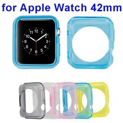 Best Selling 2015 Transparent Clear Soft TPU Case for Apple Watch Case 42mm