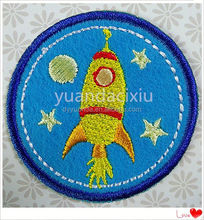 Fashion embroidered monkey patch and flower applique designs for garment
