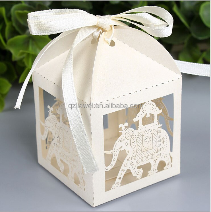 3D fancy paper candy box empty wedding gift box