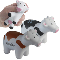 colored milk cow stress balls