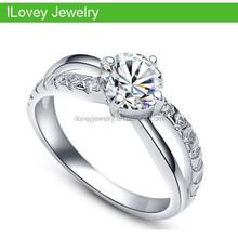 2015 latest party 925 sterling silver handmade diamond cz wedding ring