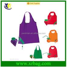 Promotional fruit shaped polyester foldable shopping bag