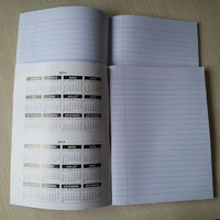 printed exercise books, student exercise books