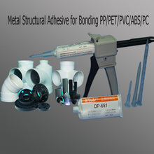 Estructural de metal adhesivo para pegar pp/pet/pvc/abs