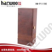 2014 popular China leather Wine box for wine bottle gift