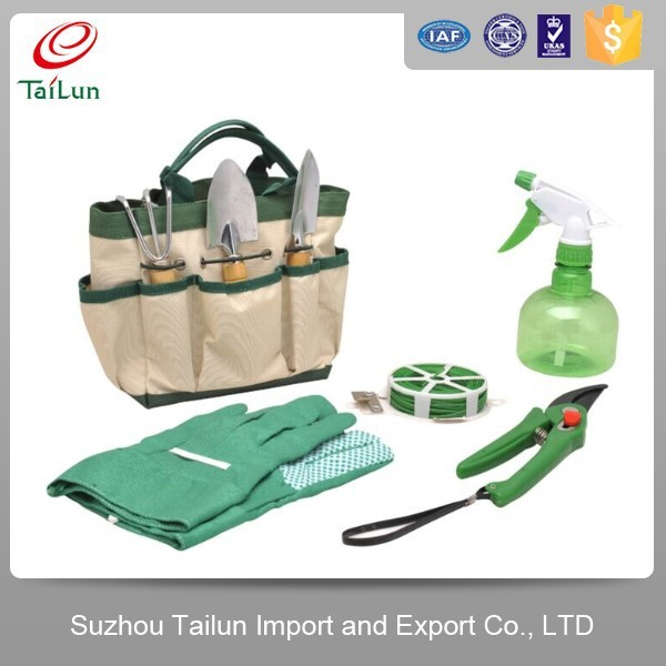 8 in 1 women garden tools set with garden line gloves for Garden tool set for women
