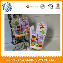 cotton material customzied logo printed oven mitt for kitchen