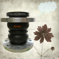 Manufacture double sphere rubber bellows with flange