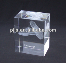 Crystal 3D cube laser for shose company gifts 2014