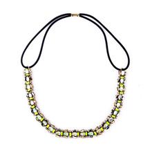 Wholesale Women Fashion Rhinestone Hair Band Necklace