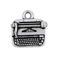 Free Shipping Zinc Alloy Antique Silver Plated Metal Typewriter Charm Pendant
