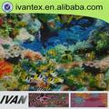 peces de coral digital impresa tela de poliamida