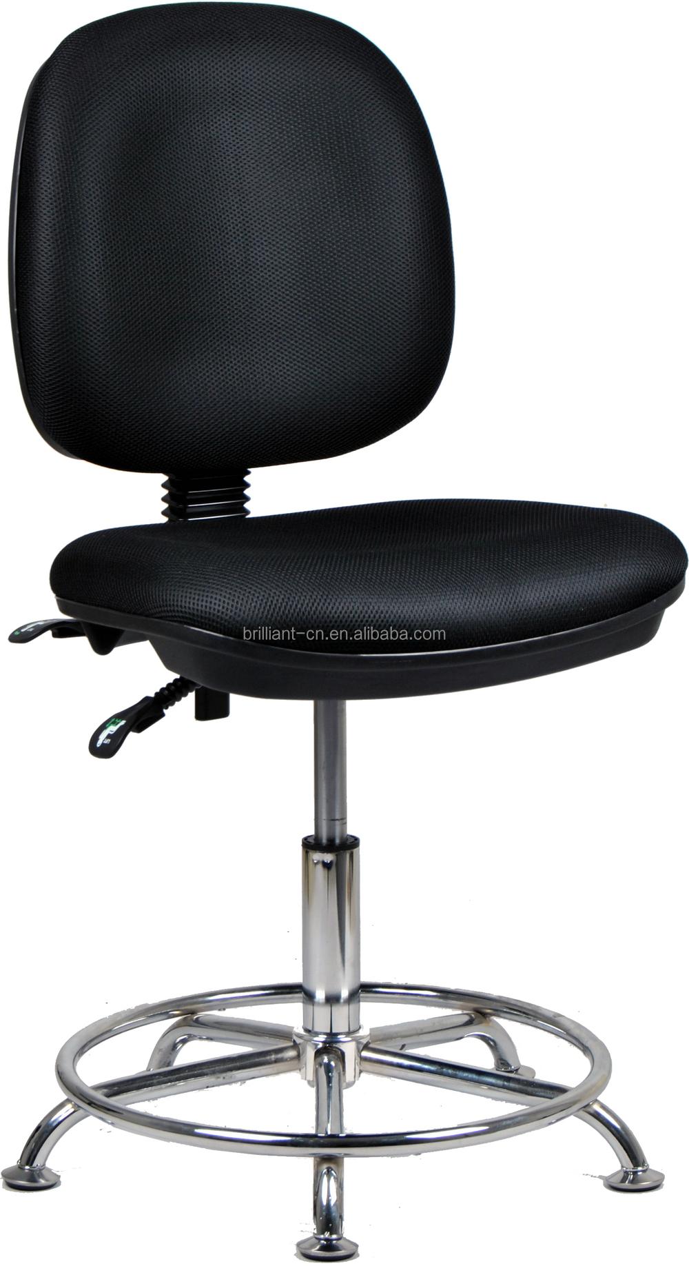 Lang en duurzame zwarte stof naaien draaibare mesh stoel for Sillas para oficina sin ruedas