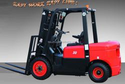 3 tons diesel forklift truck mini forklift truck hydraulic transmission CPCD30FR