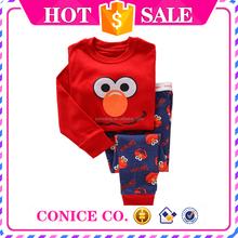 wholesale cheap boys red long sleeve & long pants pajamas sets cheap 2015 new design kids boy wear set of pajamas