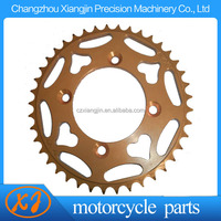 cnc machined customed cd70 motorcycle chain and sprocket