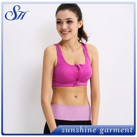 New Arrival Factory Wholesale Custom strappy cage Ladies Front Seamless Hot Sexy Compression Sports Yoga Bra