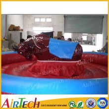best selling popular bull ride inflatable game , mechanical game