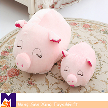Customized pink plush pig doll with stuffed plush pig toy