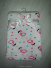 New designs printed baby blanket coral fleece throw blanket for baby