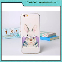 Cute rabbit pattern tpu case for iphone 5, embossed case for iphone 5s
