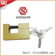 GOLDEN LOTUS Rectangular Padlock With Normal Keys