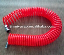 10 years experience low price 1/2' (12.7mm*9.5mm) PU sprial flexible air tube for industrial robot with quick coupler