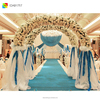 backdrop swags wedding stage/petal backdrop curtain/weddings stage decoration backdrop curtains for sale