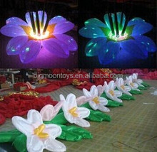 2015 hot colorful led inflatable flower,giant inflatable flower decoration