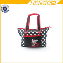 cute polyester recycled diaper bag with pouch